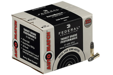 Federal Ammunition 22 LR 40 gr AutoMatch 325 Round Pack