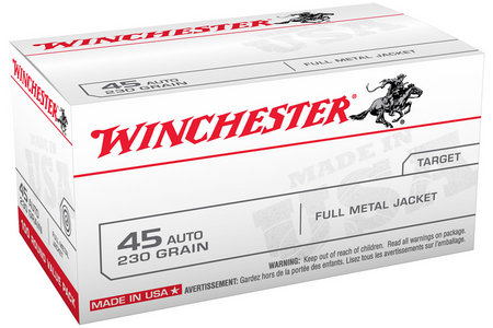 WINCHESTER AMMO 45 ACP 230 gr FMJ 100 Round Value Pack