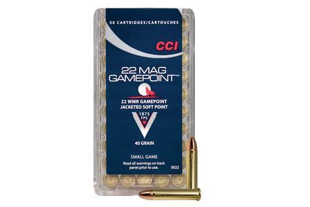CCI AMMUNITION 22 WMR 40 gr JSP GamePoint 50/Box