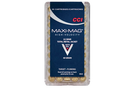 CCI AMMUNITION 22 WMR 40 gr TMJ Maxi-Mag 50/Box