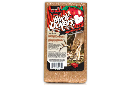 EVOLVED HABITATS BUCK LICKER APPLE 4LB BLOCK