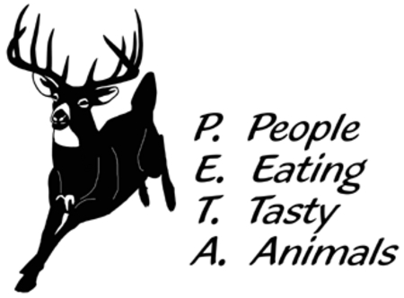 PEOPLE EAT TASTY ANIMALS DECAL OD2004