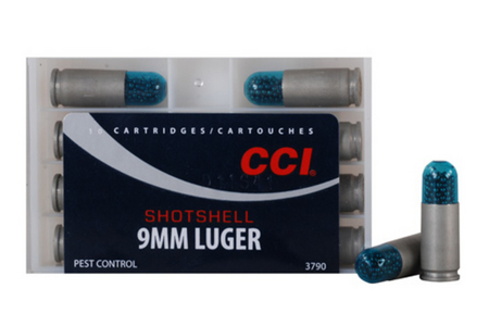 CCI 9mm Luger 53 gr #12 Shotshell 10/Box