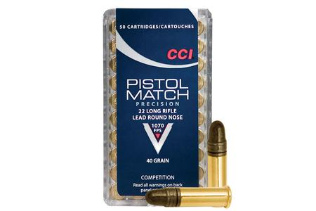 CCI 22LR 40 gr Lead Round Nose Pistol Match Precision 50/Box