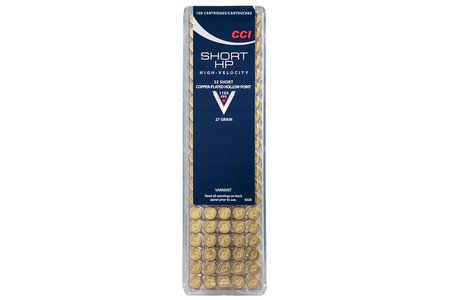 CCI AMMUNITION 22 Short 27 gr CPHP Short HP 100/Box