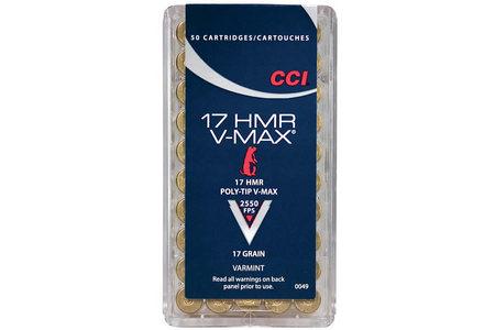 CCI AMMUNITION 17 HMR 17 gr V-MAX Varmint 50/Box