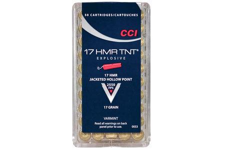 CCI AMMUNITION 17 HMR 17 gr JHP TNT 50/Box