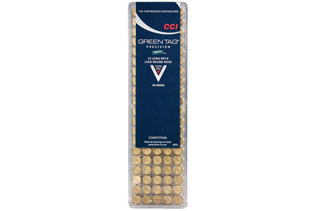 CCI AMMUNITION 22 LR 40 gr LRN Green Tag Competition 100/Box
