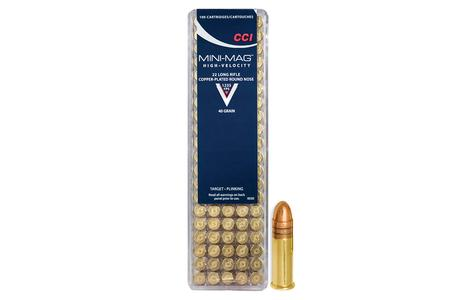 CCI AMMUNITION 22LR 40 gr CPRN Mini Mag 100/Box