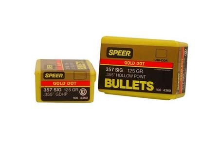 355-125-GR GOLD DOT HP BULLET