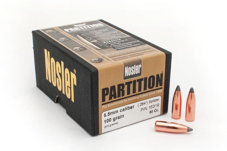 25 Cal ( 257) 115 gr Spitzer Point Partition 50/Box