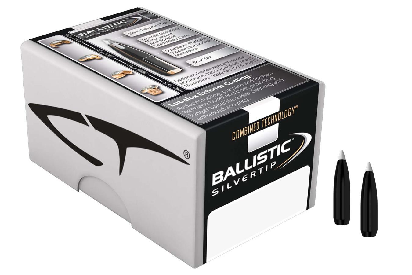 30 Cal ( 308) 180 gr Spitzer Point Ballistic Silvertip 50/Box