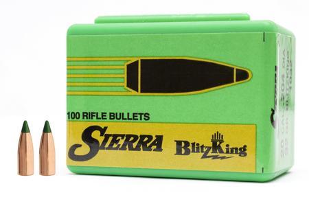 Sierra Bullets 20 Cal ( 204) 32 gr Spitzer BlitzKing 100/Box