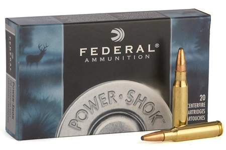 FEDERAL AMMUNITION 22-250 Rem 55 gr Soft Point Power-Shok 20/Box