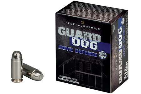 FEDERAL AMMUNITION 9MM LUGER 105 GR FMJ GUARD DOG 20/BOX
