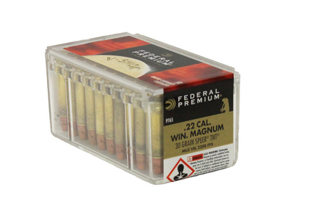 FEDERAL AMMUNITION 22 WMR 30 gr Speer TNT Hollow Point V-Shok 50/Box