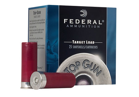 FEDERAL AMMUNITION 12 Gauge Top Gun Target 2 3/4 inch 8 Shot 25/Box