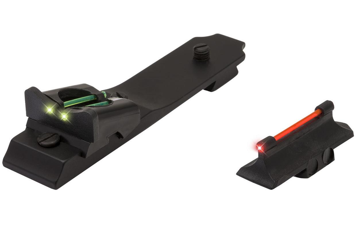 truglo slug gun series fiber optic sights for winchester