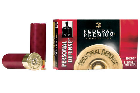 FEDERAL AMMUNITION 20 Ga 2-3/4 in 24 Pellets - 4 Buck Premium Personal Defense 5/Box