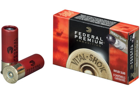 FEDERAL AMMUNITION 12 Ga 2 3/4 in TruBall Rifled Slug Vital-Shok 5/Box