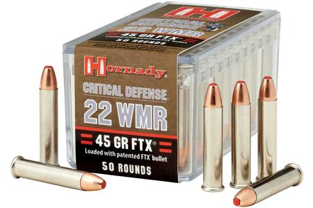 HORNADY 22 WMR 45 gr FTX Critical Defense 50/Box