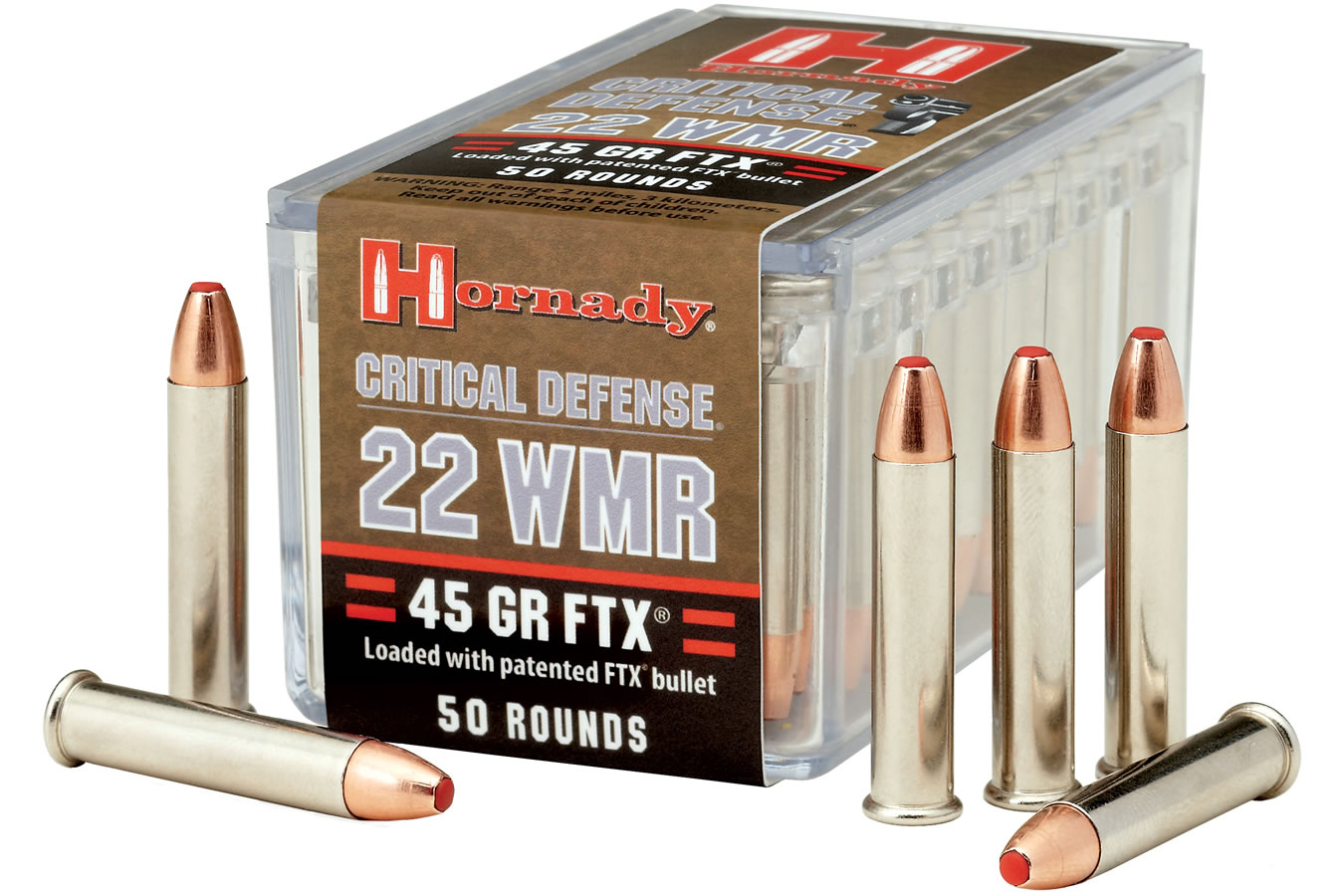 22 WMR 45 GR FTX CRITICAL DEFENSE 50/BOX