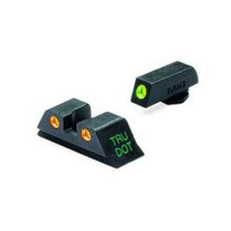 FIXED NIGHT SIGHTS FOR GLOCK 9MM, 40, 45