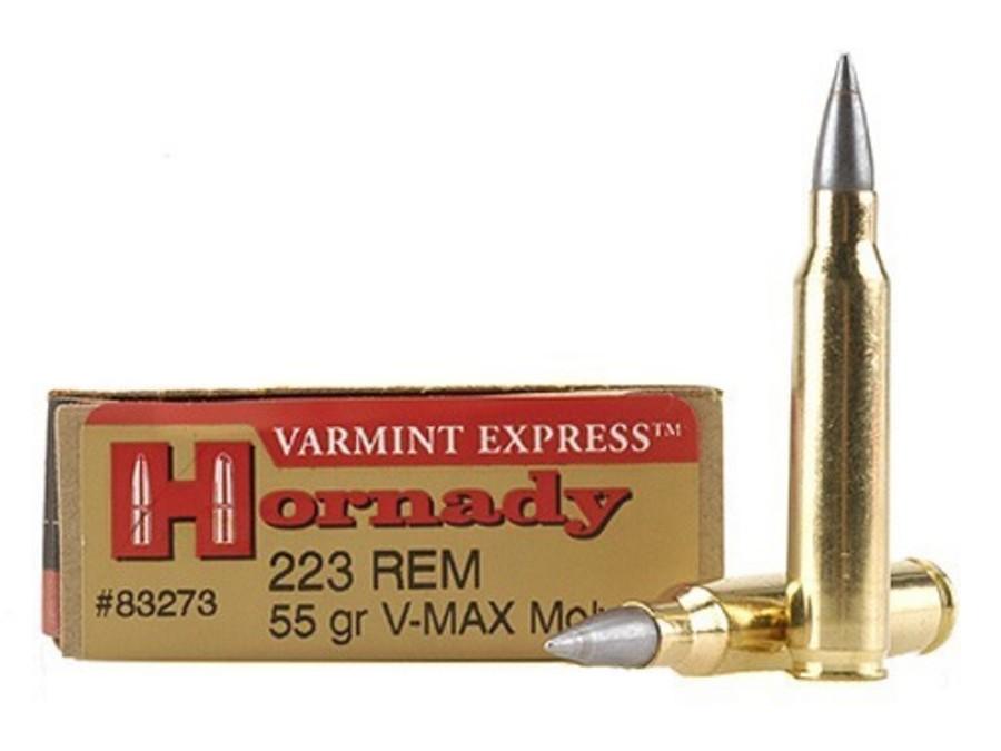 HORNADY AMMO 223 REM 55 GR V-MAX MOLY