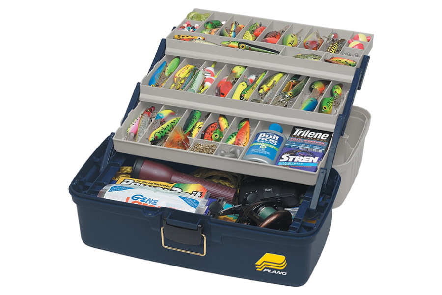 Plano molding extra large three tray tackle box vance for Large tackle boxes for fishing