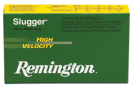 REMINGTON 12 Ga 3 in 7/8 oz Slugger High Velocity 5/Box