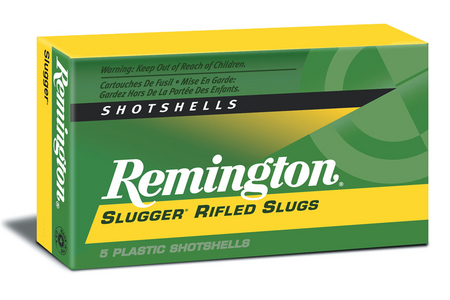 REMINGTON 12 Ga 2 3/4 1 oz Slugger Rifled Slugs 5/Box