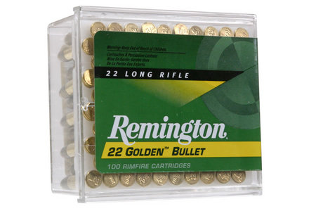 Remington 22LR 40 gr Round Nose Golden Bullet 100/Box