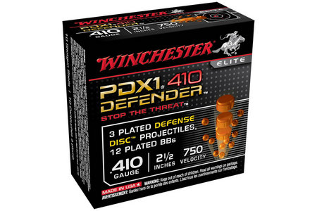WINCHESTER AMMO 410 Ga 2-1/2 in 3DD/12 BB PDX1 Defender 10/Box