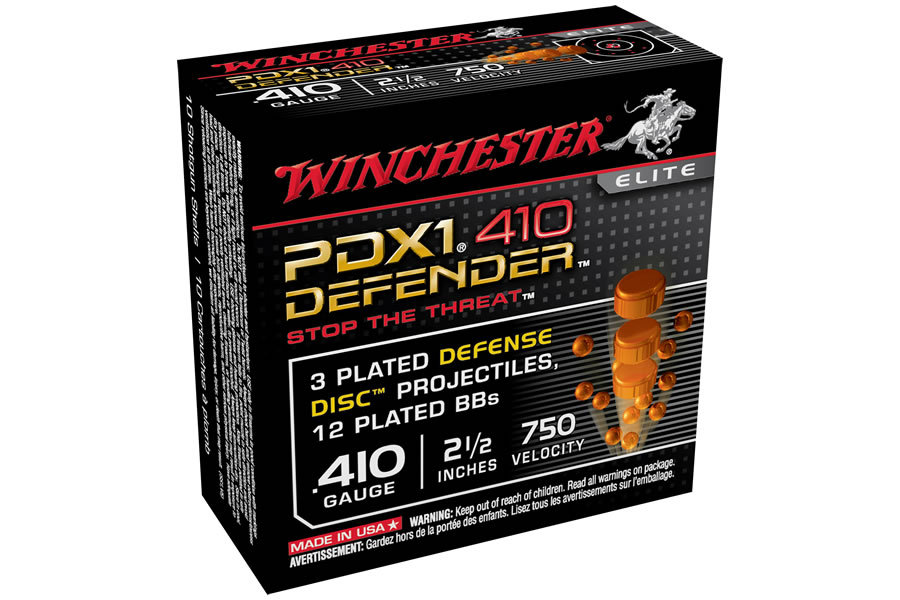 WINCHESTER AMMO 410 GA 2-1/2 IN 3DD/12BB DEFENSE DISC/BB COMBO
