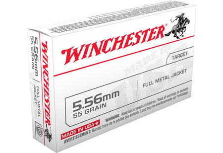 WINCHESTER AMMO 5.56MM 55 GR FMJ USA Q3131 20/BOX