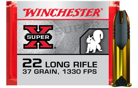 WINCHESTER AMMO 22LR 37 gr Copper Plated Super Speed HP 100/Box