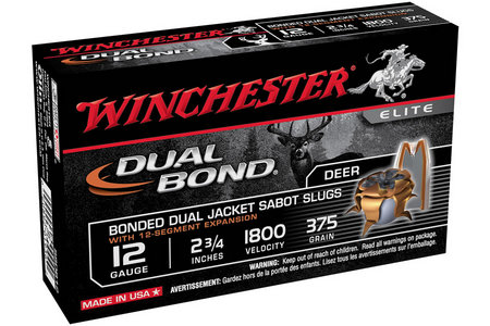 Winchester 12 Ga 2-3/4 in 375 gr Sabot Dual Bond 5/Box