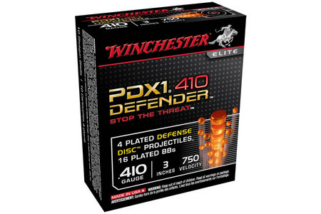 Winchester 410 Ga 3 in. 1 oz PDX1 Defender 10/Box
