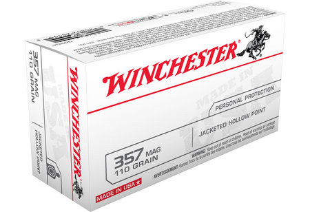 WINCHESTER AMMO 357 MAG 110 GR JHP 50/BOX