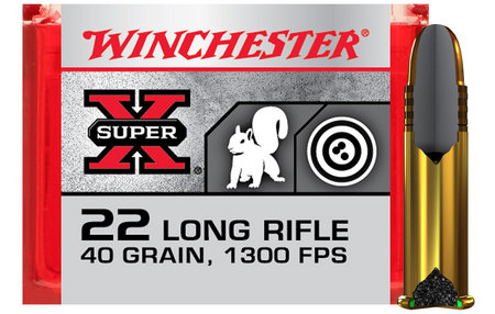 WINCHESTER AMMO 22LR 40 gr Copper Plated Super Speed Round Nose 100/Box