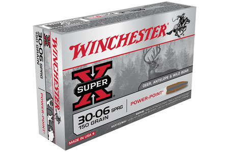 WINCHESTER AMMO 30-06 Springfield 150 gr Power Point Super X 20/Box