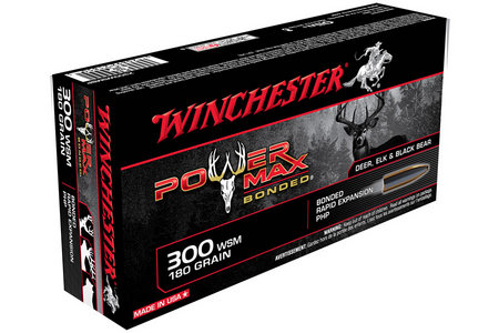 WINCHESTER AMMO 300 WSM 180 gr Protected HP Power Max Bonded 20/Box