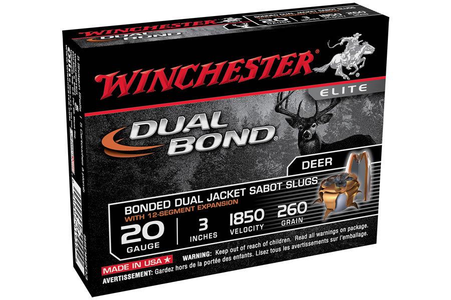 Winchester 20 Ga 3 In 260 Gr Jhp Sabot Dual Bond 5 Box