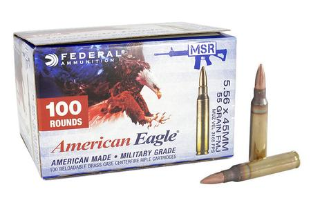 FEDERAL AMMUNITION XM193 5.56mm 55 gr FMJ 100 Round Value Pack