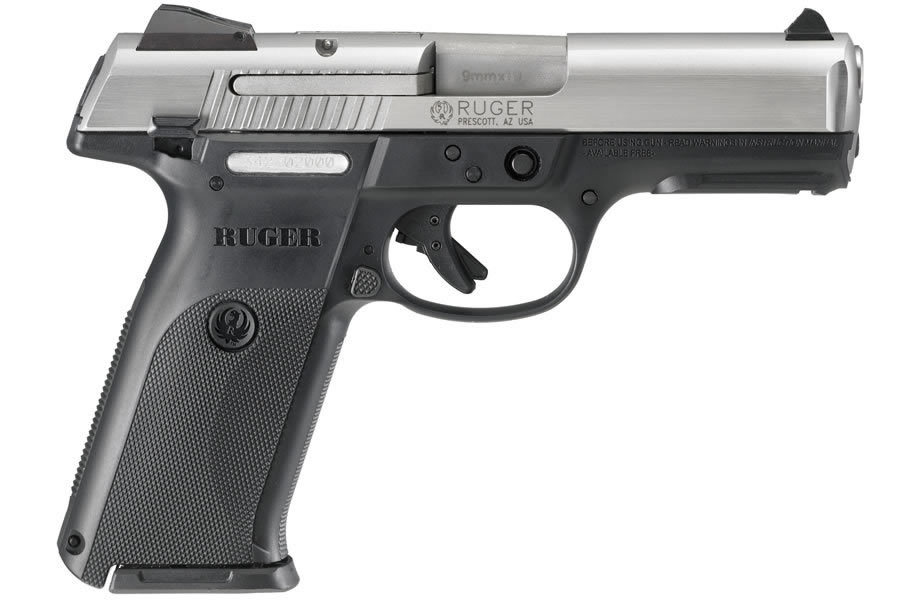 RUGER SR9 FULL-SIZE 9MM STAINLESS 10-ROUND