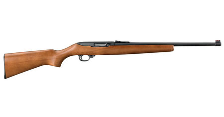 RUGER 10/22 22LR HARDWOOD FIBER OPTIC RIFLE