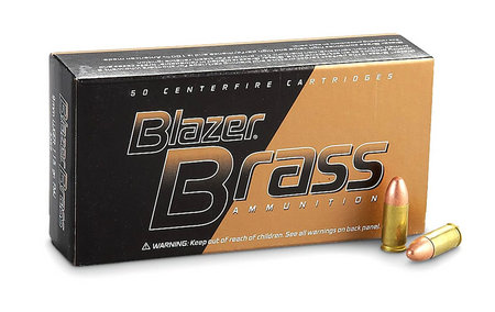 CCI AMMUNITION 9mm Luger 115 gr FMJ Blazer Brass 1000 Rounds