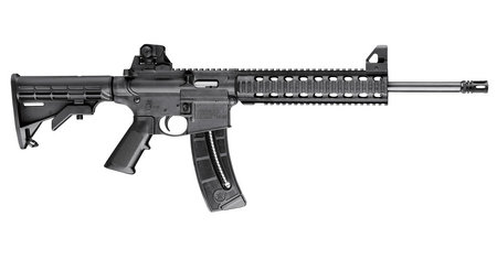 SMITH AND WESSON MP15-22 22LR RIFLE WITH THREADED BARREL
