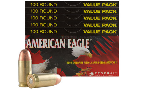 Federal 9mm 115 gr FMJ American Eagle 500 Round Case