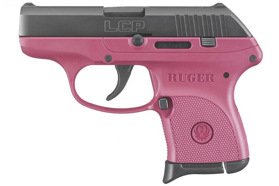 Ruger Lcp 380acp Centerfire Pistol With Raspberry Grip Frame